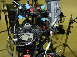 illustrating Sescom cableconnections allowing dual audio capture and headphone monitoring