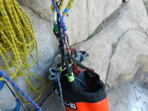 Metolius Quarter Dome haul bag --excellent for soloing and as a sub-bag
