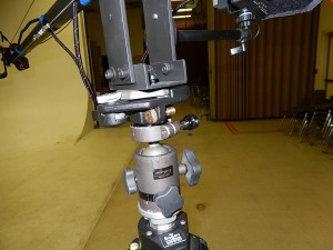 Arukas ball head with jib mount