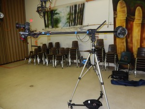 travel jib in studio