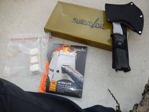 MTech Survival hatchet_Emberlit UL Ti stove_Esbit tinder