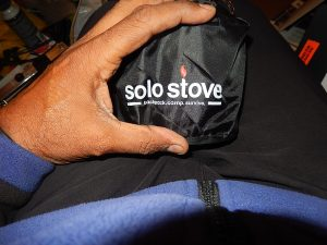 Solo wood stove in carry bag