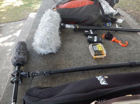 boom poles_ 2 shotguns_ blimp_2 Lavs